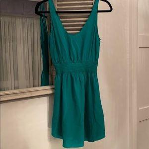 Aritzia Babaton Green silk dress